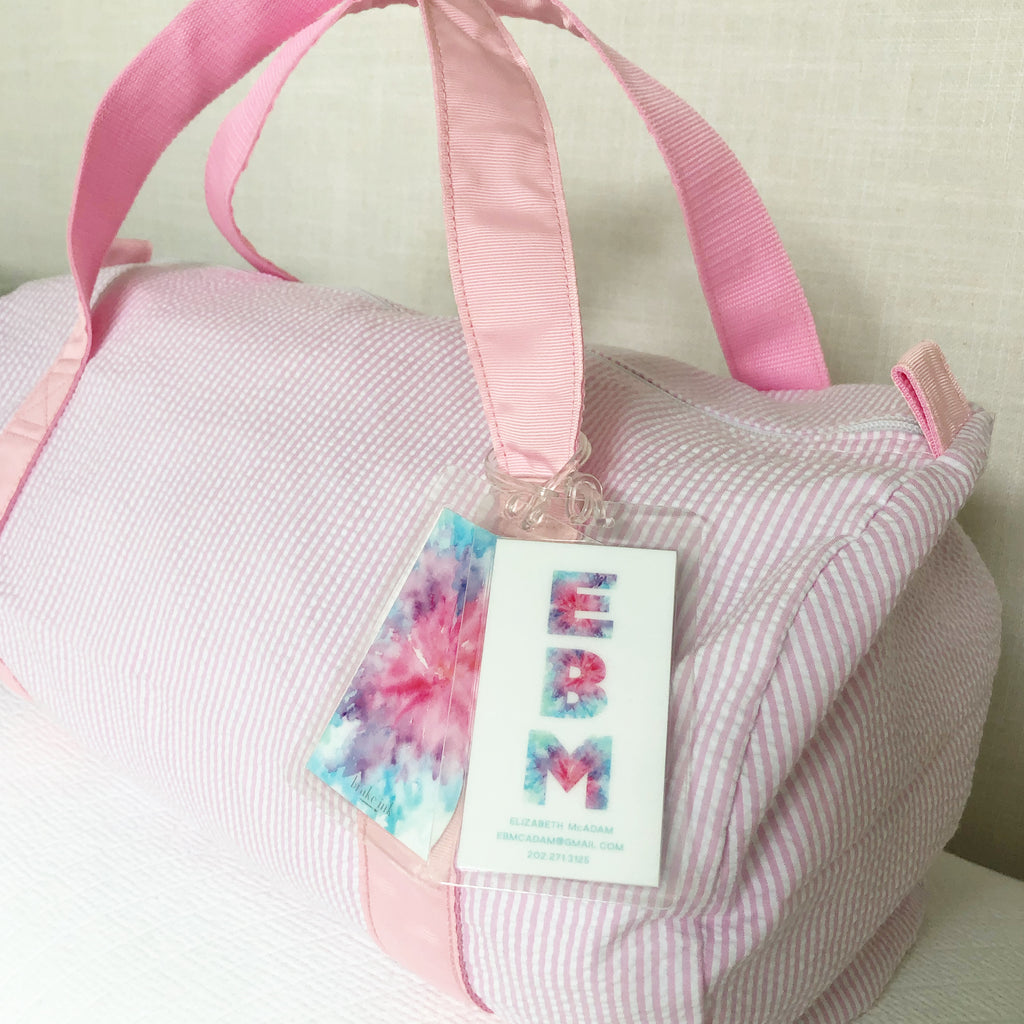 Tie Dye Bag Tags- Rectangle