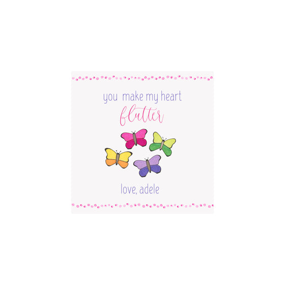 Personalized Butterfly Valentine Gift Tags & Stickers
