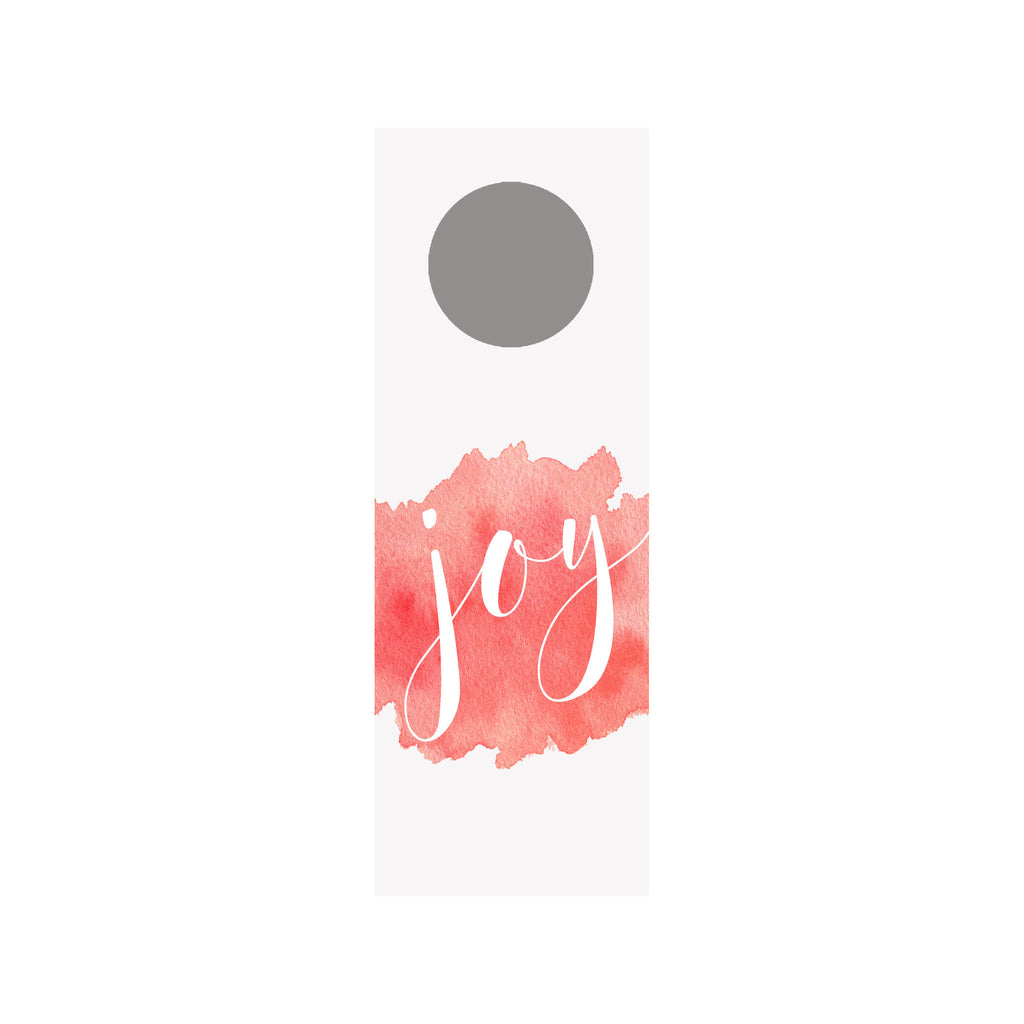 Watercolor Splash Wine Tag - Red