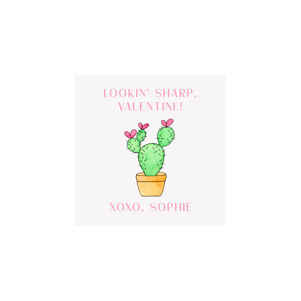 Cactus Valentine Gift Tags & Stickers