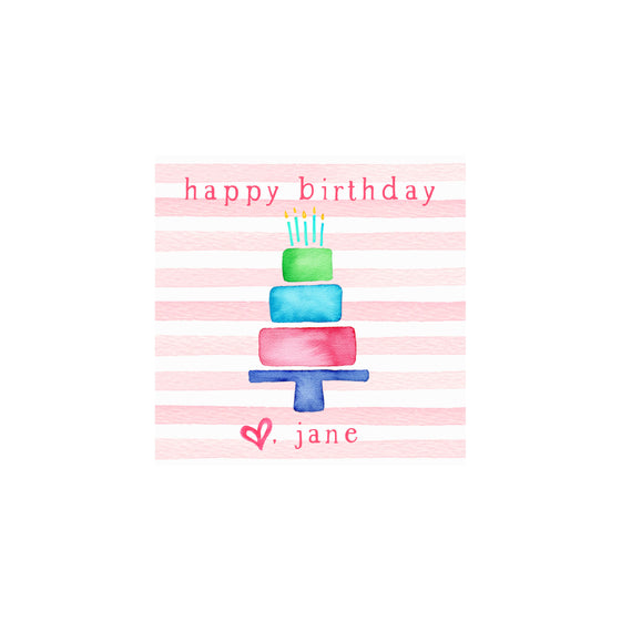 Cake Stripes Gift Tags & Stickers