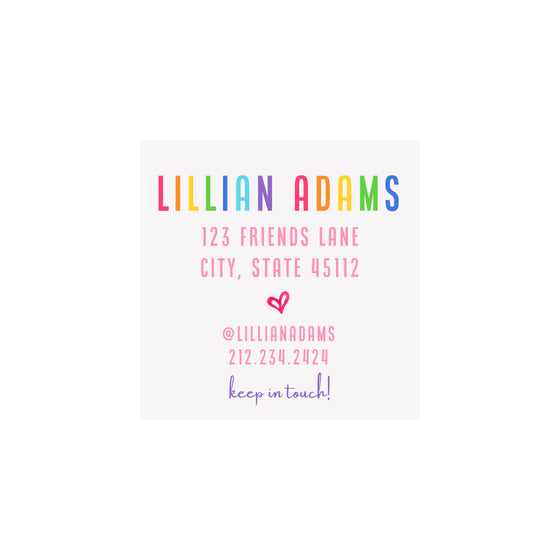 Camp Calling Cards- Girl Multi Color