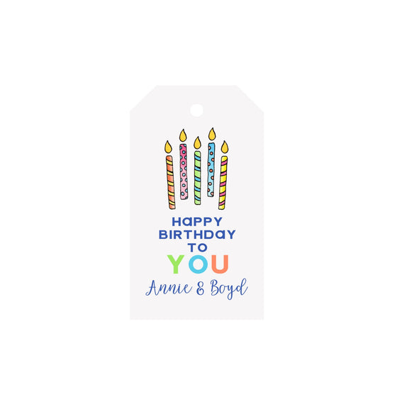 Birthday Candles Personalized Luggage Gift Tags