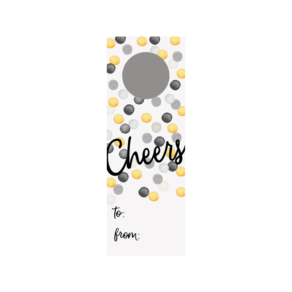 Champagne Dots Wine Tag