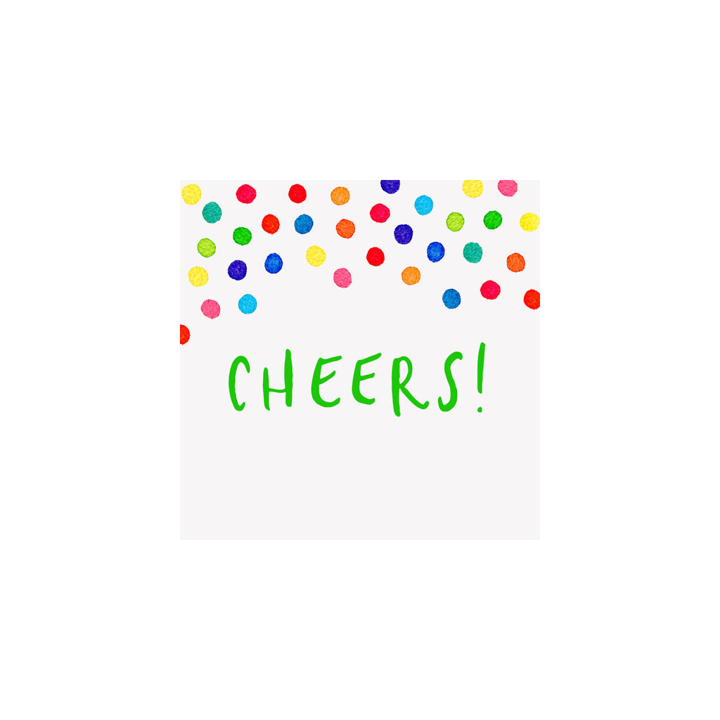 Confetti Cheers Gift Tag - Green