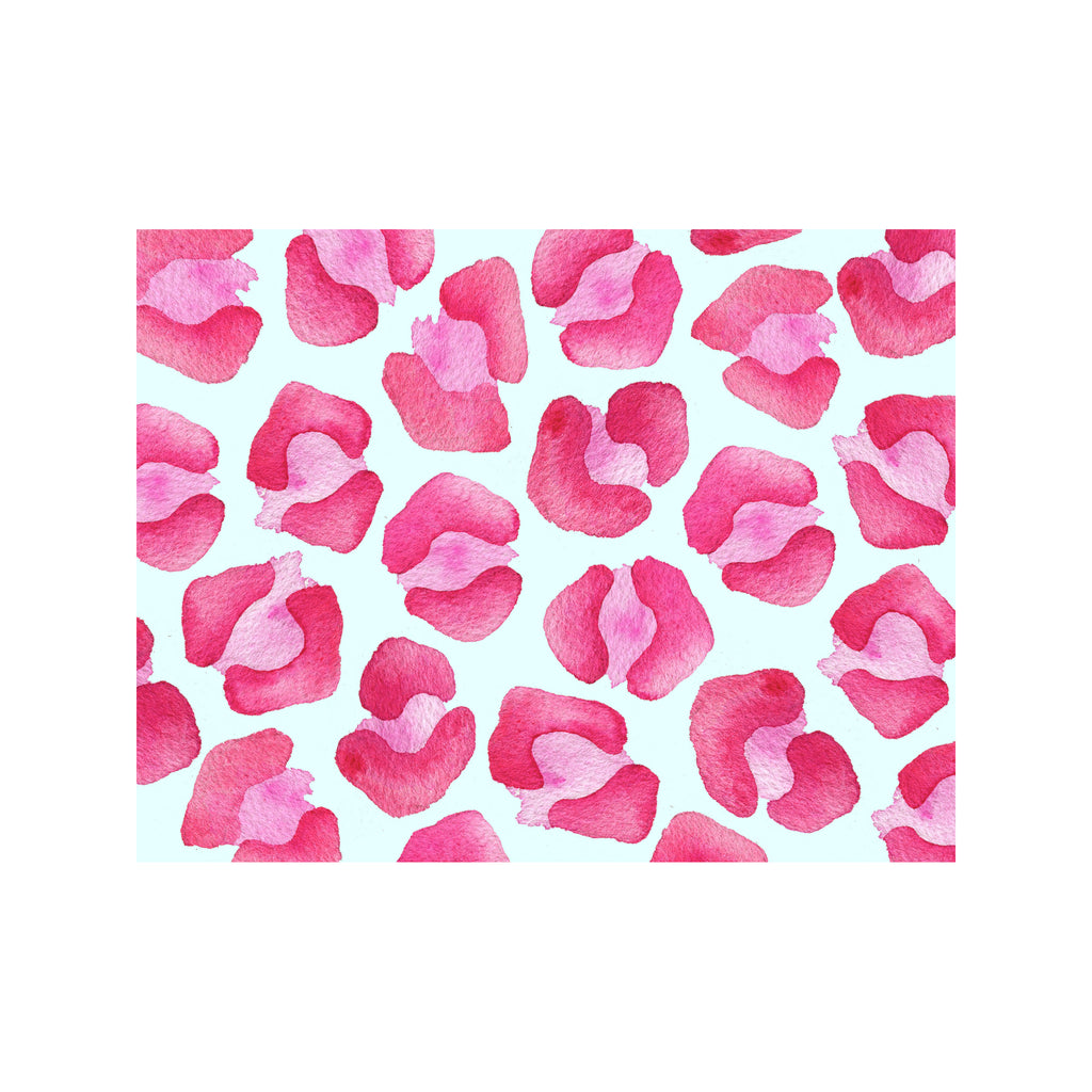 Cheetah Note Cards- Pink