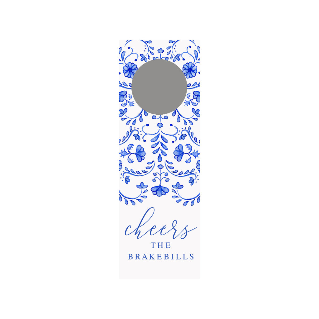 Chinoiserie Personalized Wine Tag