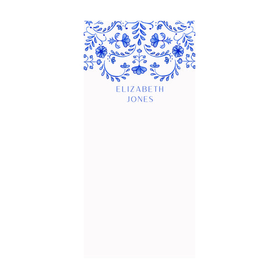 Chinoiserie Notepad- Personalized