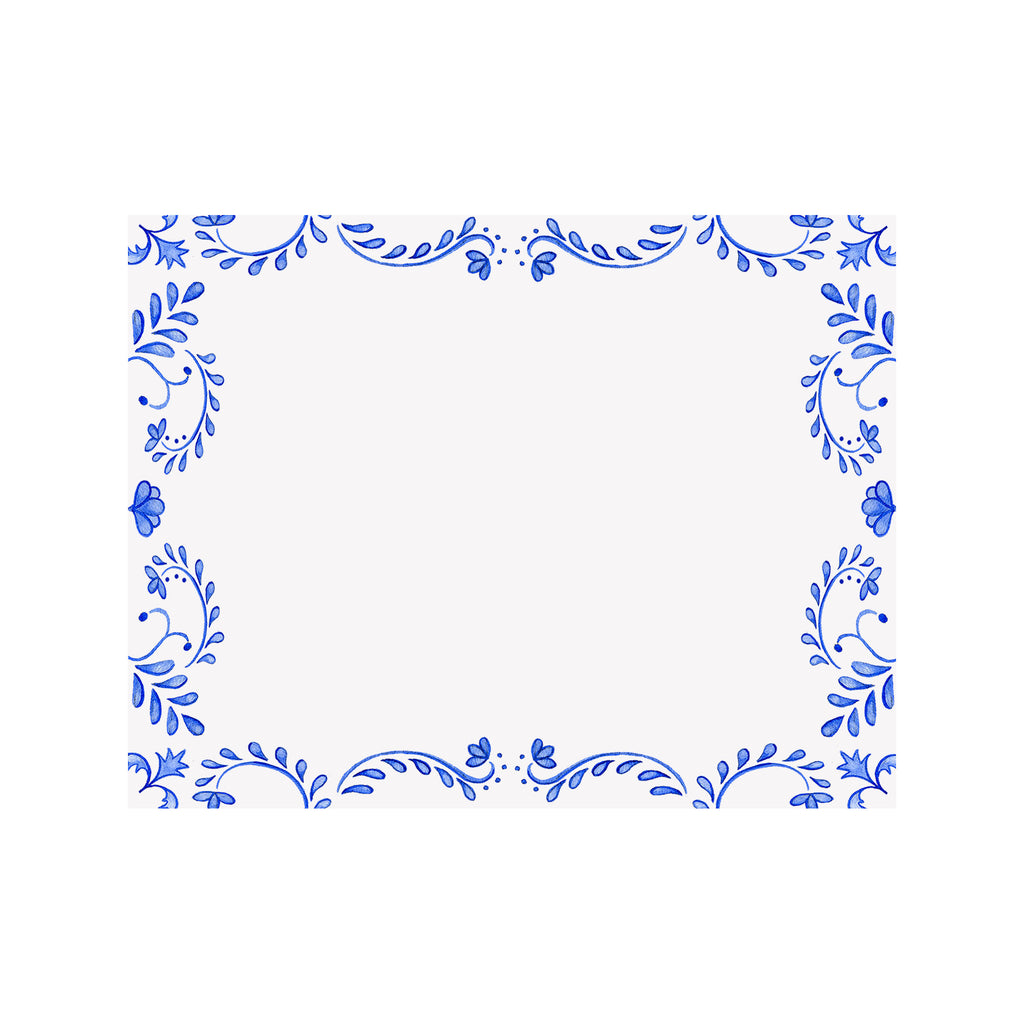 Chinoiserie Border Note Card