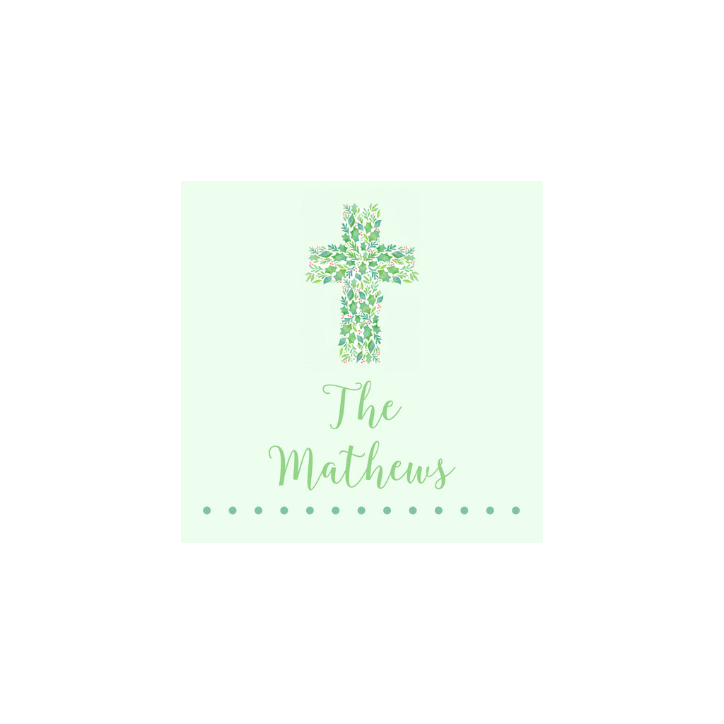 Christmas Cross Gift Tags & Stickers
