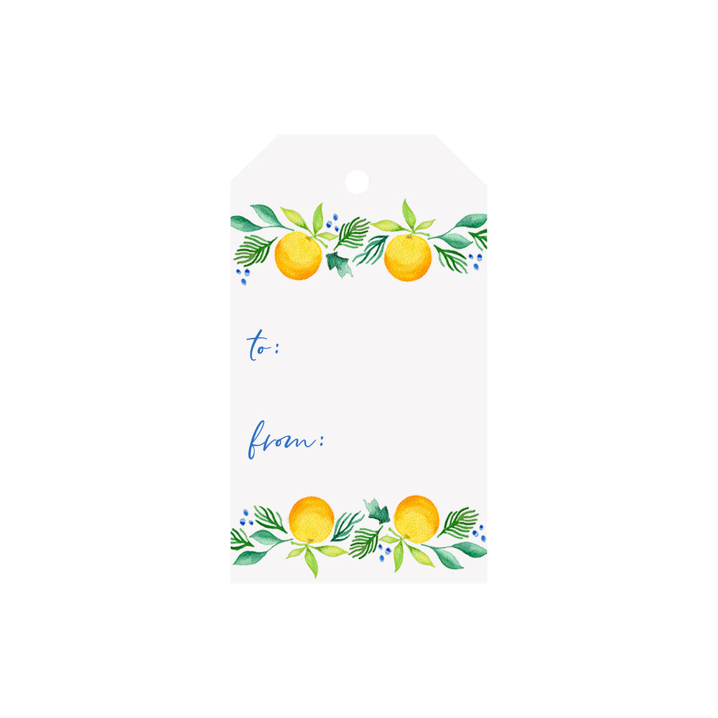 Citrus Garland Luggage Gift Tags