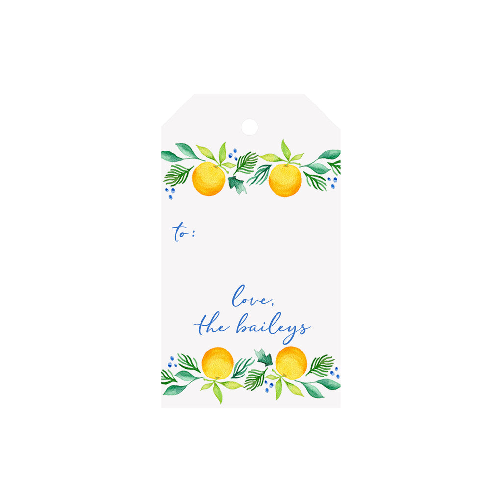 Citrus Garland Personalized Luggage Gift Tags