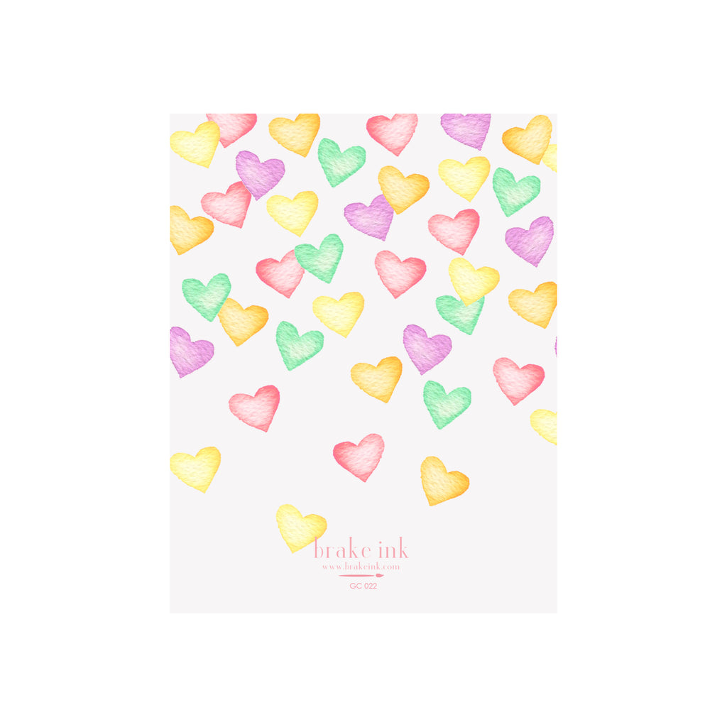 Conversation Hearts Card