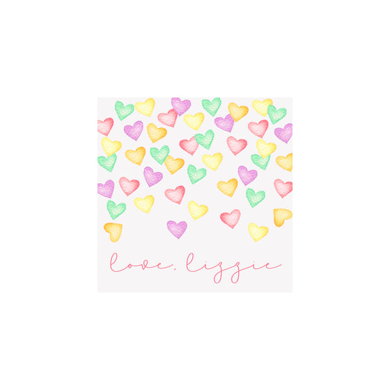 Conversation Hearts Gift Tags & Stickers