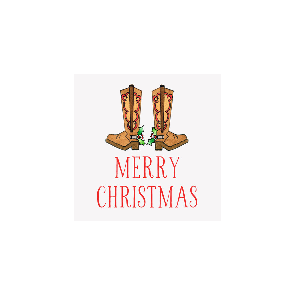 Holiday Boots Gift Tag