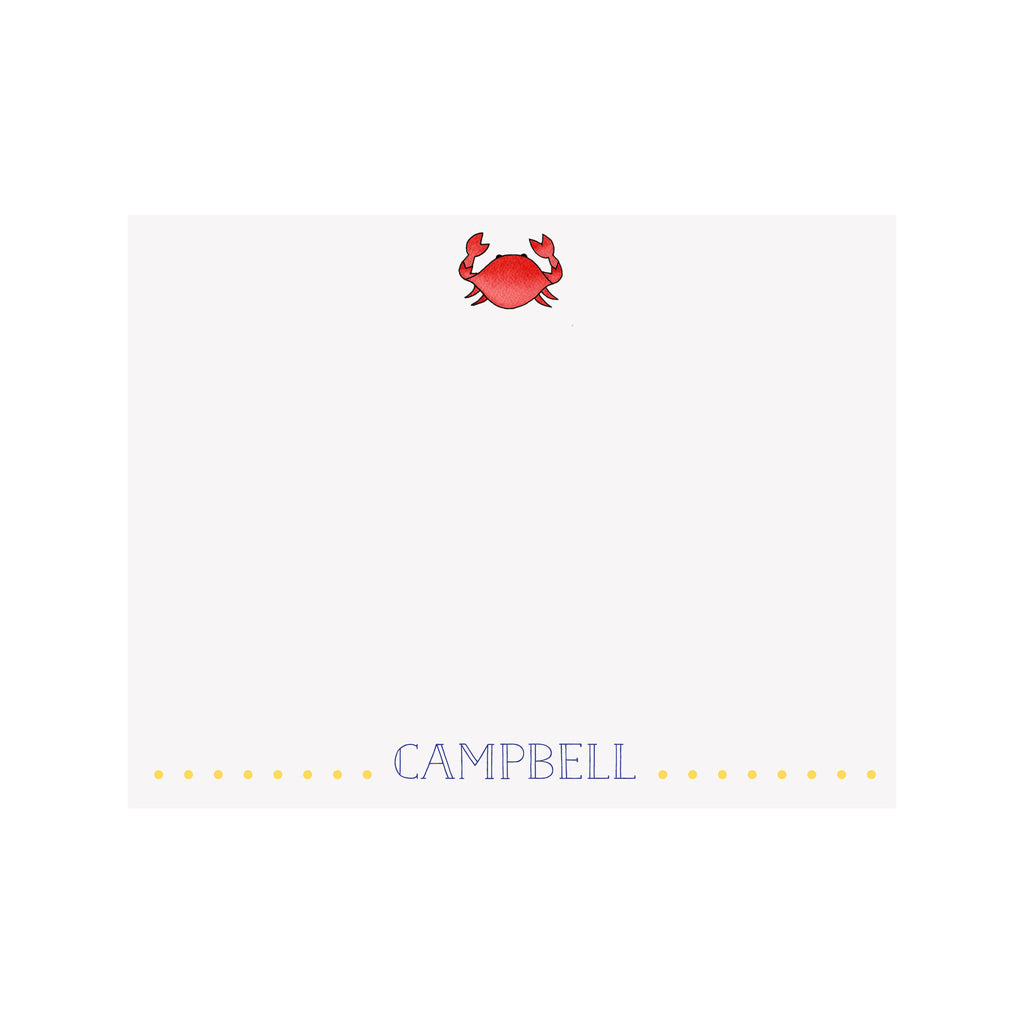 Crab Stationery- Red