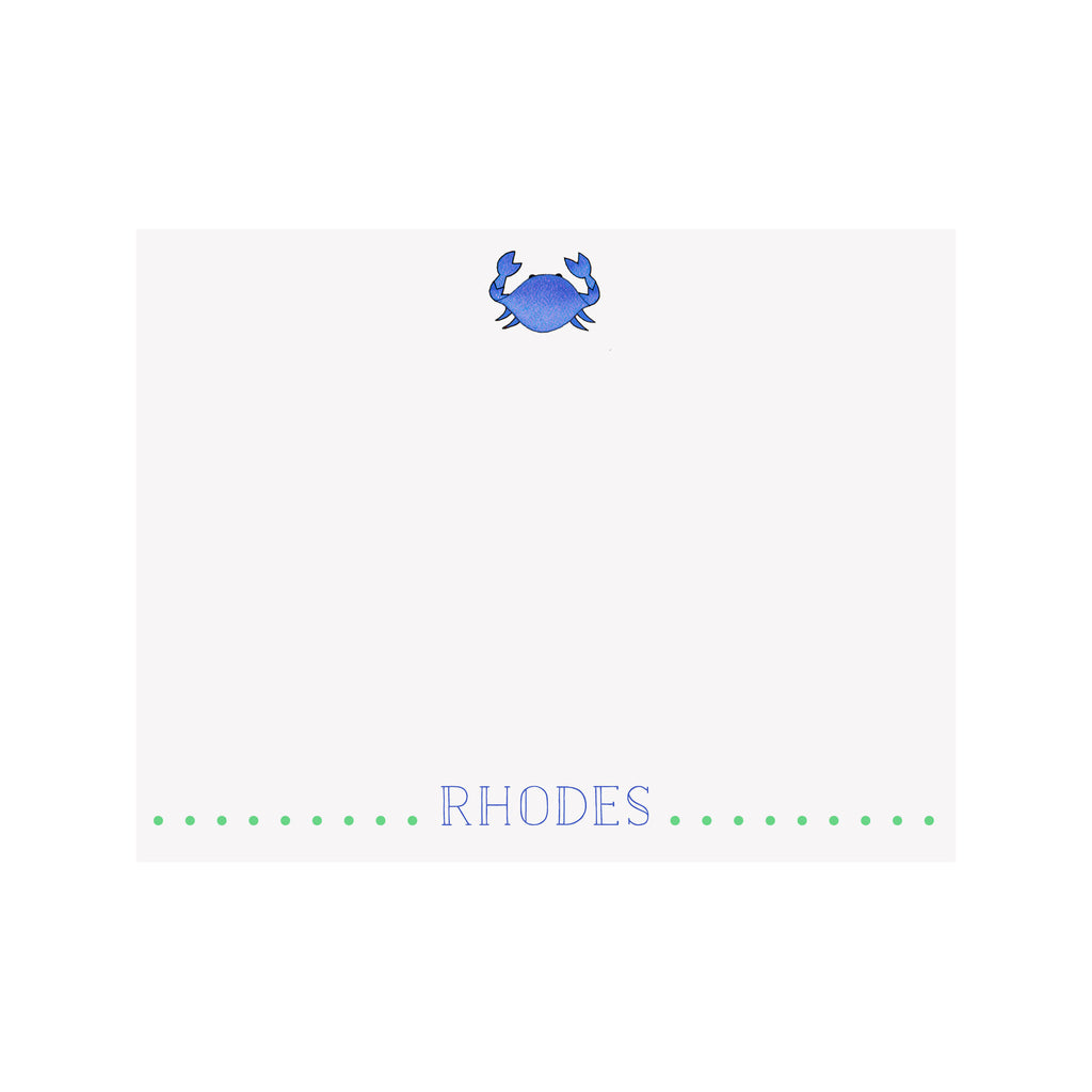 Crab Stationery- Blue