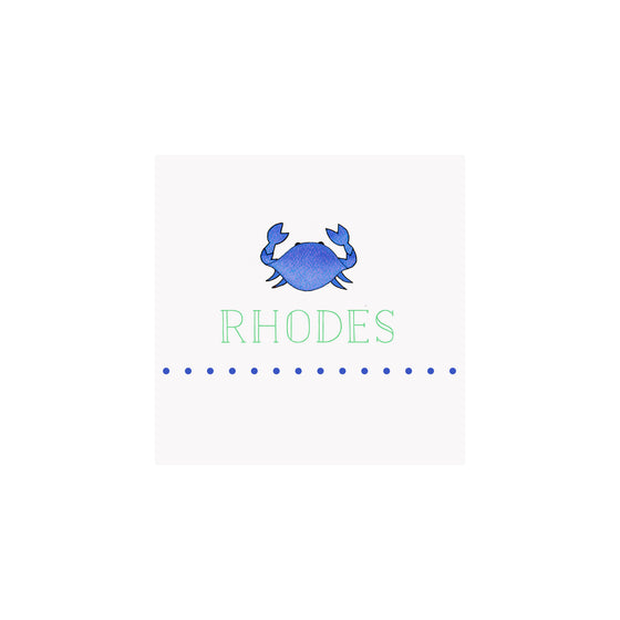 Crab Blue Gift Tags & Stickers