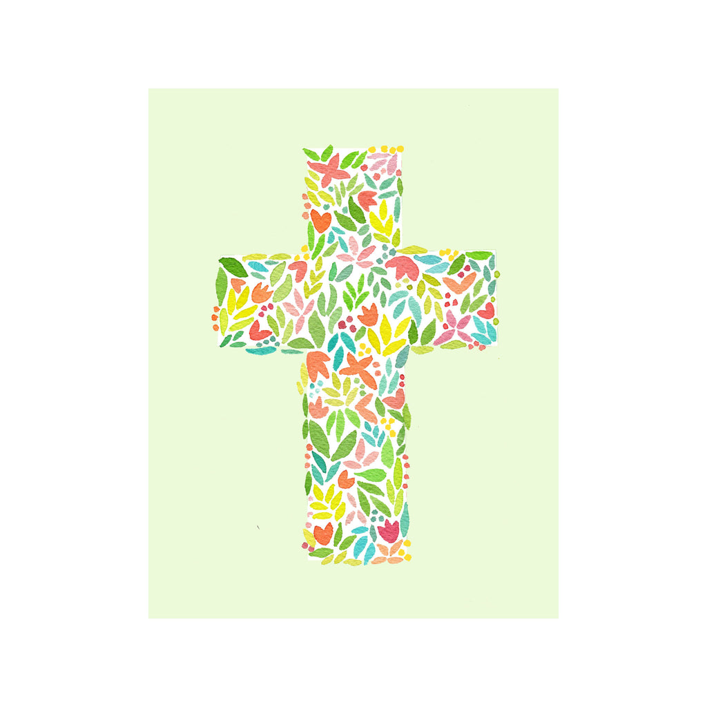 Floral Cross Card