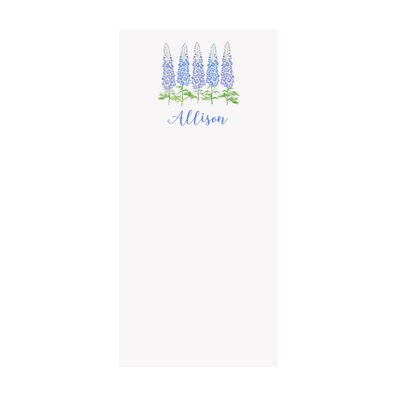 Delphinium Notepad- Personalized