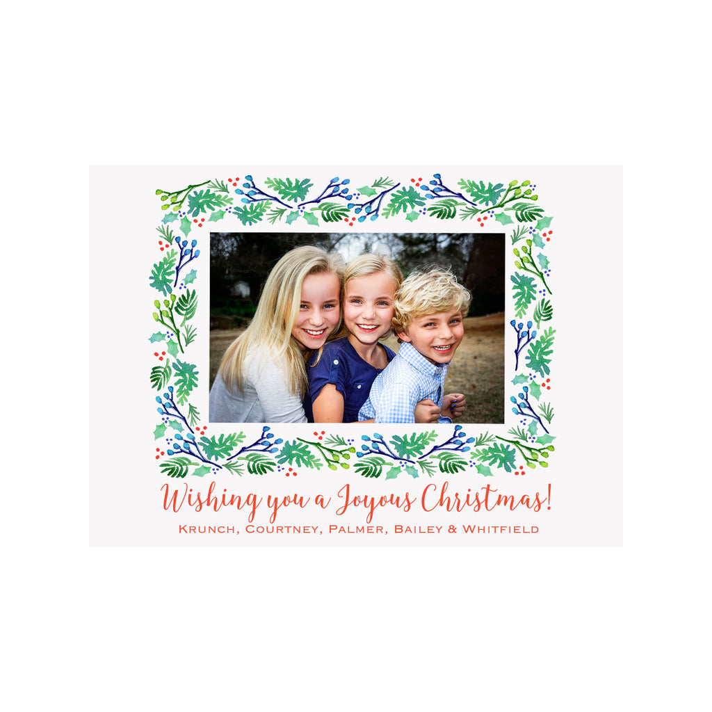 Evergreen Holiday Photo Cards