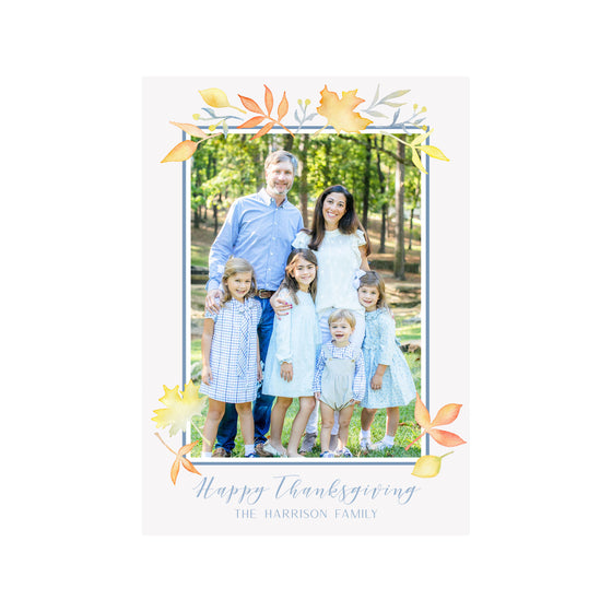 Fall Leaves Holiday Photo Cards