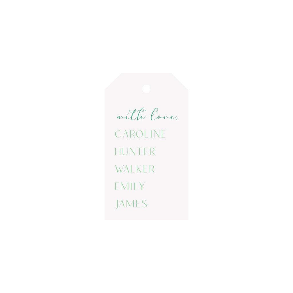 Family Names Personalized Luggage Gift Tags