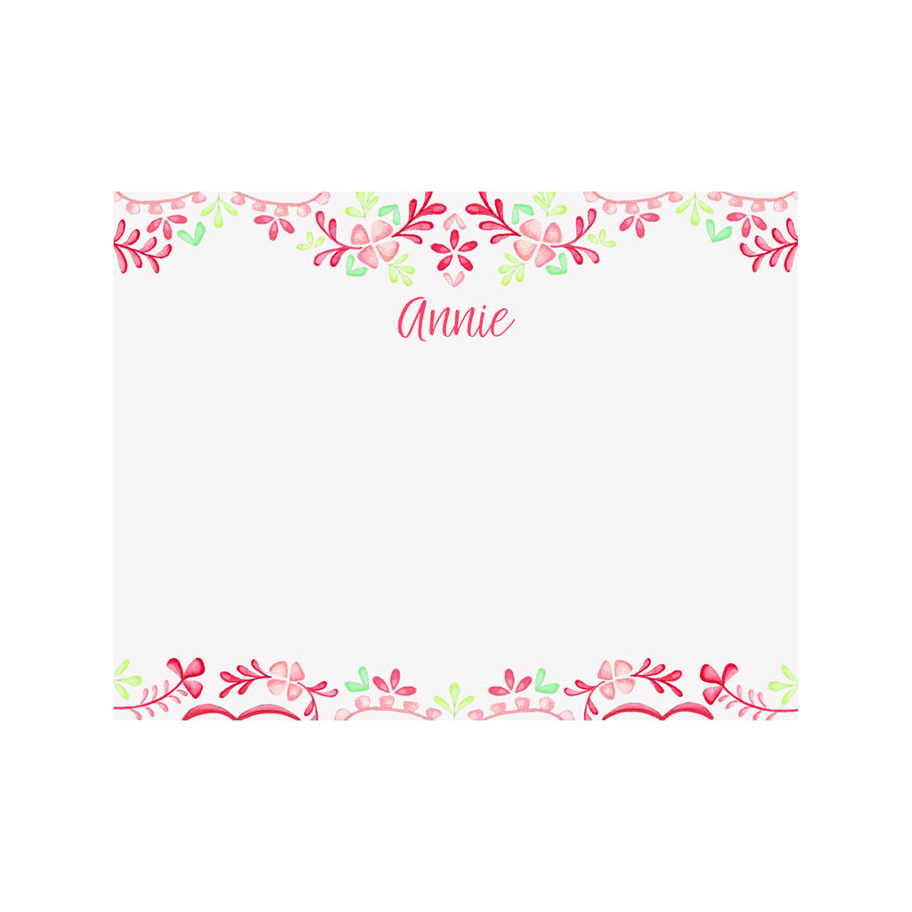 Floral Fiesta Personalized Stationery