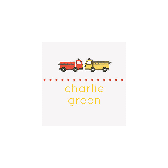 Fire Truck Gift Tags & Stickers
