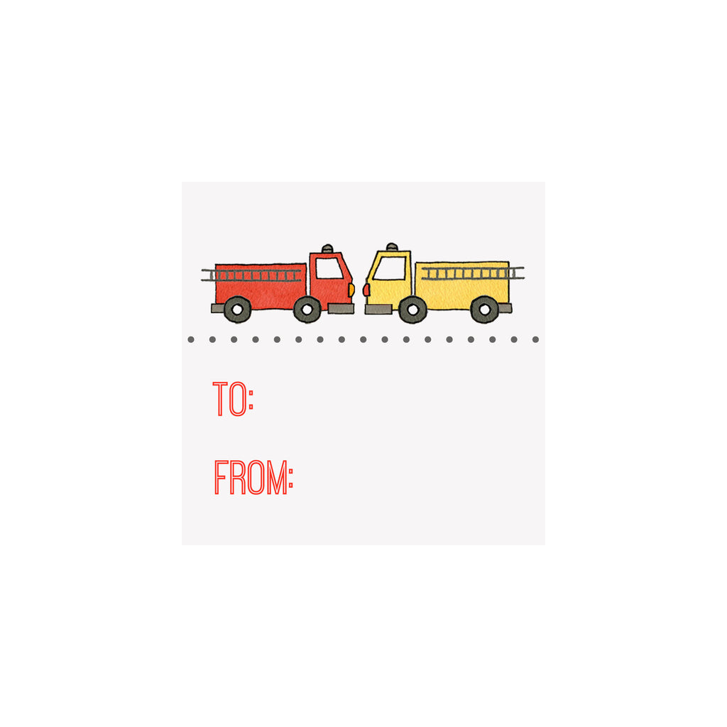 Fire Truck Gift Tag