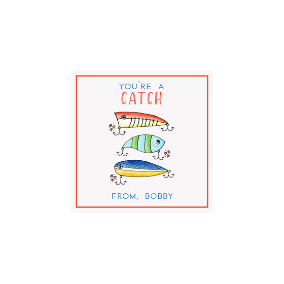 Fishing Lures Valentine Gift Tags & Stickers