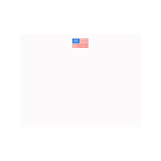 American Flag Note Card