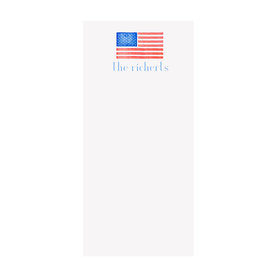 American Flag Notepad- Personalized