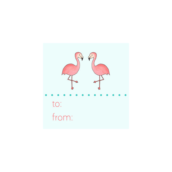 Flamingo Gift Tag