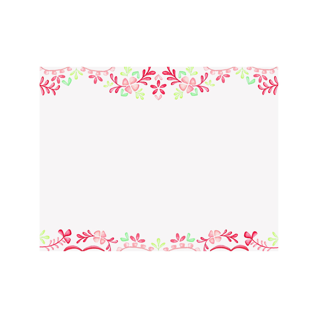 Floral Fiesta Border Note Card