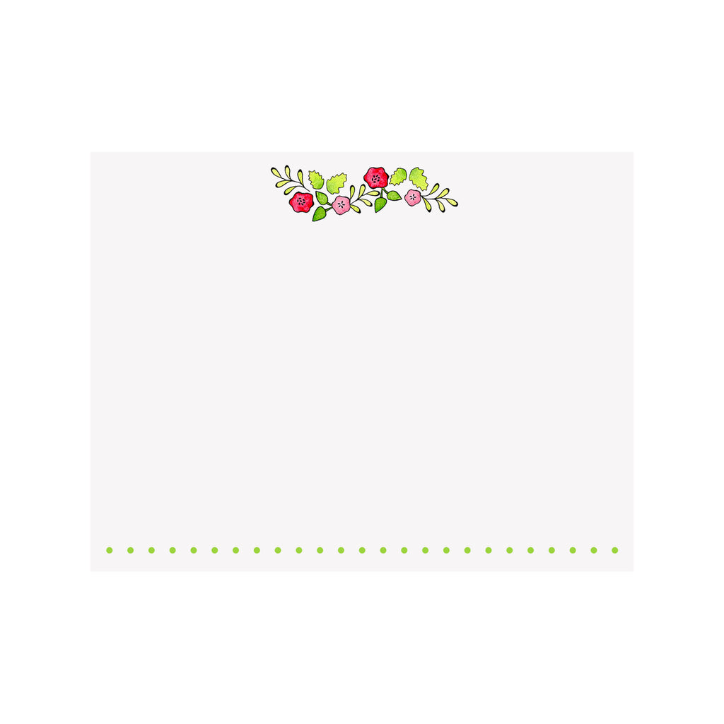 Flower Garland Note Card