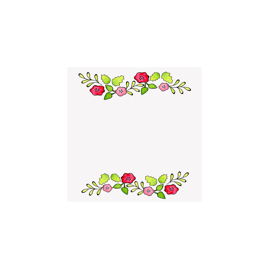 Flower Garland Gift Tag
