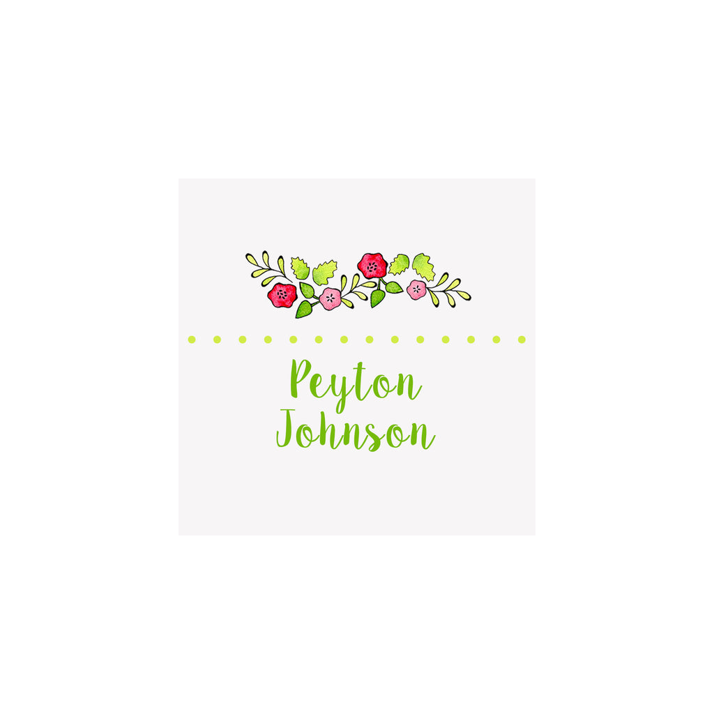 Flower Garland Gift Tags & Stickers