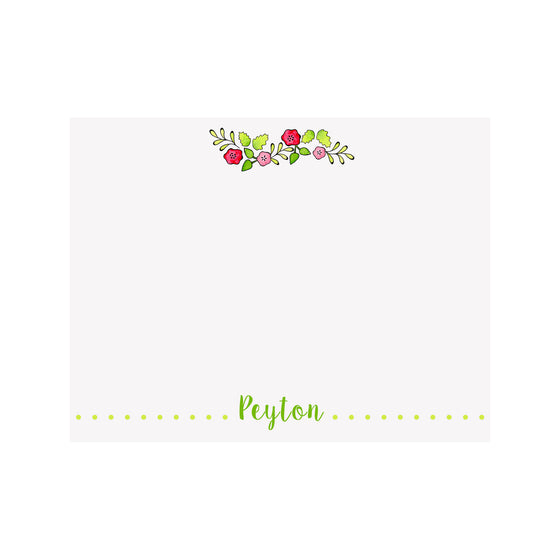 Flower Garland Stationery