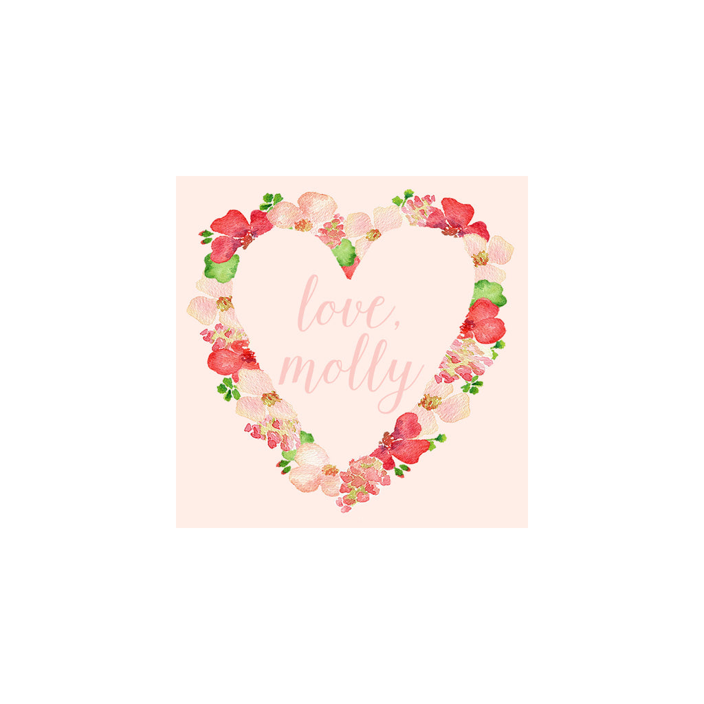 Flower Heart Gift Tags & Stickers