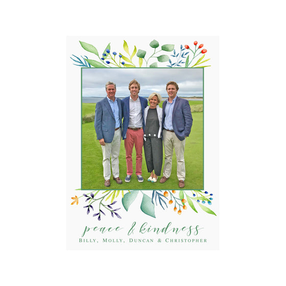 Foliage Holiday Photo Cards