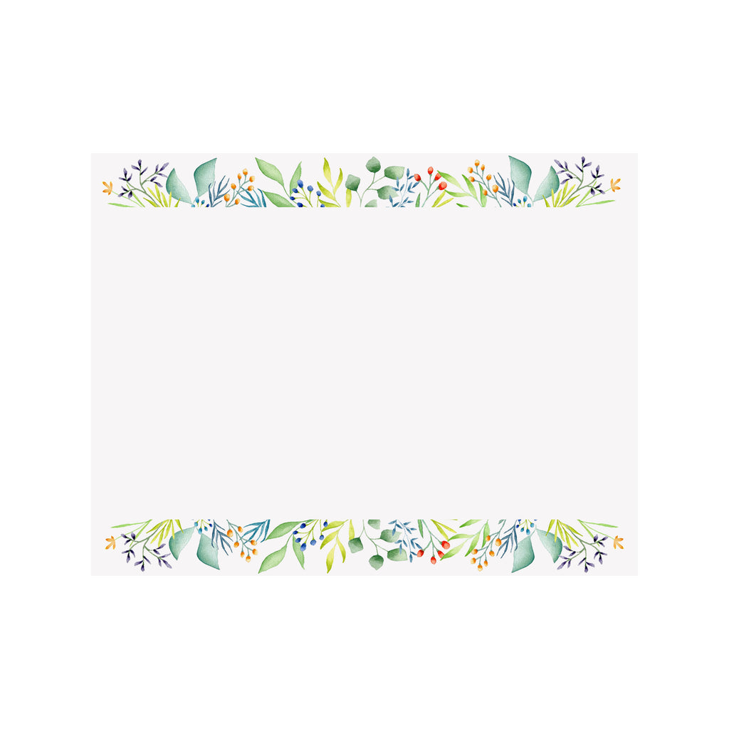 Foliage Border Note Card