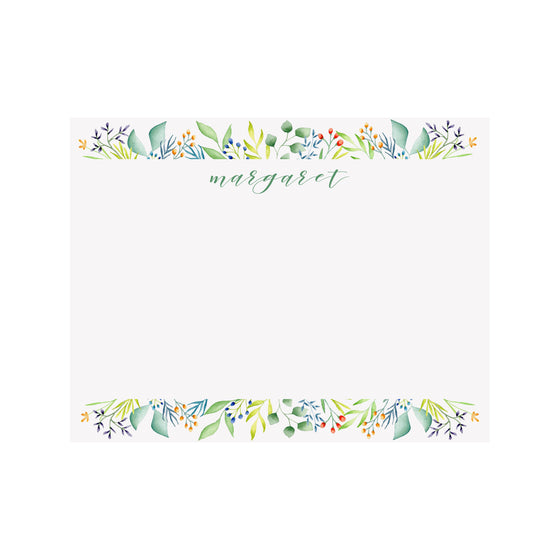 Foliage Personalized Stationery