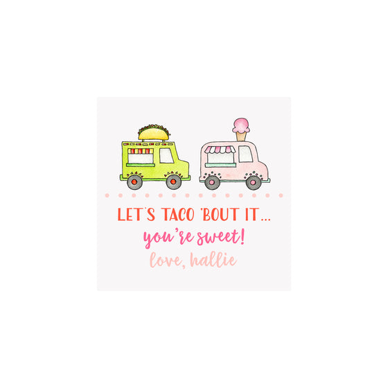 Food Trucks Gift Tags & Stickers