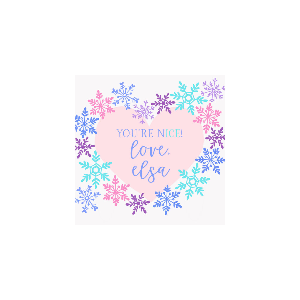 Snowflake Hearts Gift Tags & Stickers