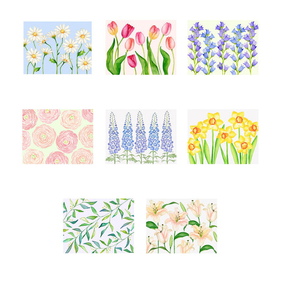 Garden Bouquet- Assorted Floral Foldover Note Cards