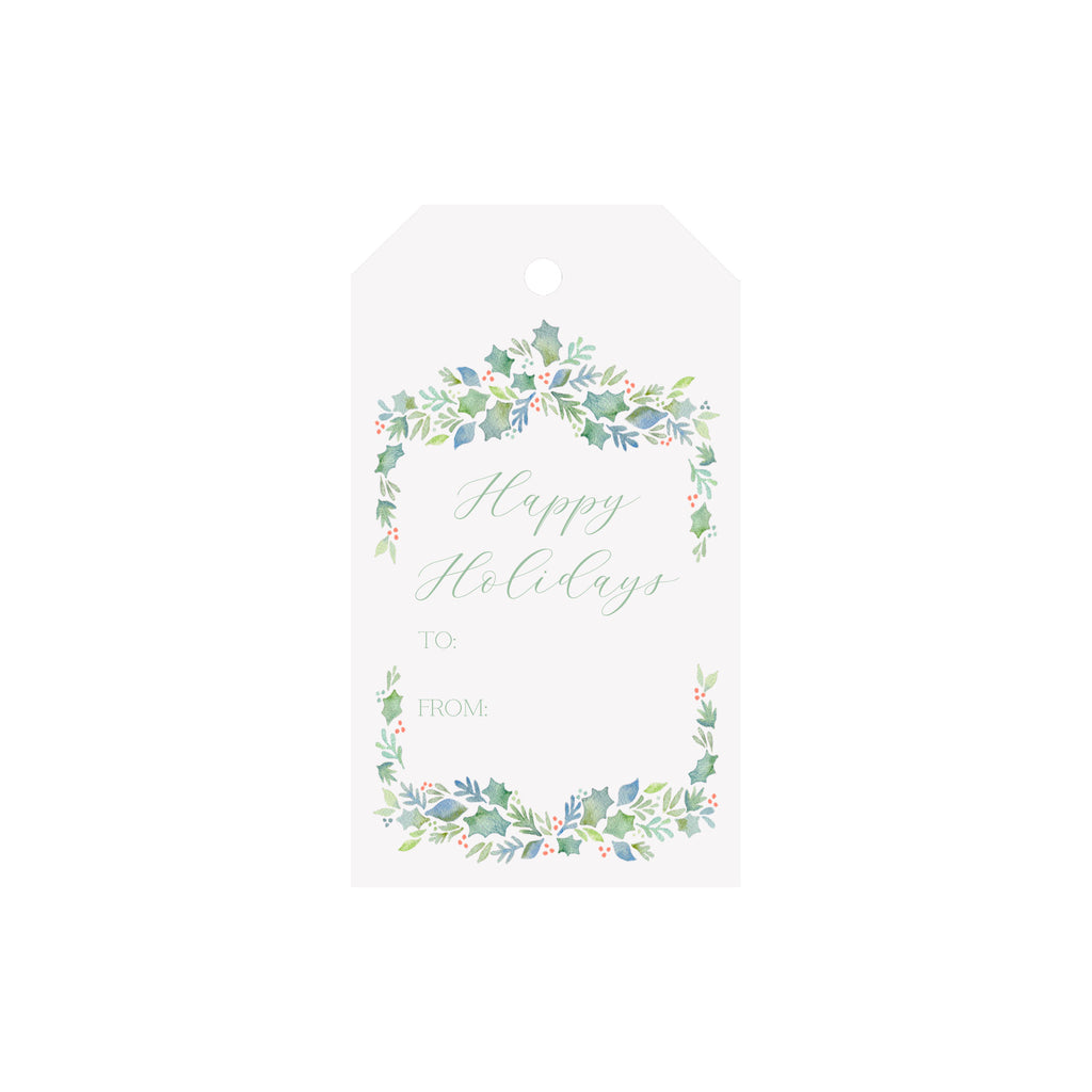 Garland Berries Blue Luggage Gift Tags