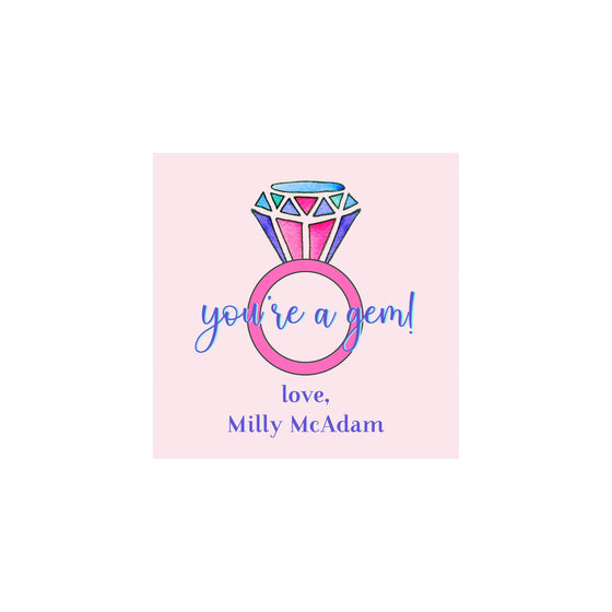 You're a Gem Valentine Gift Tags & Stickers