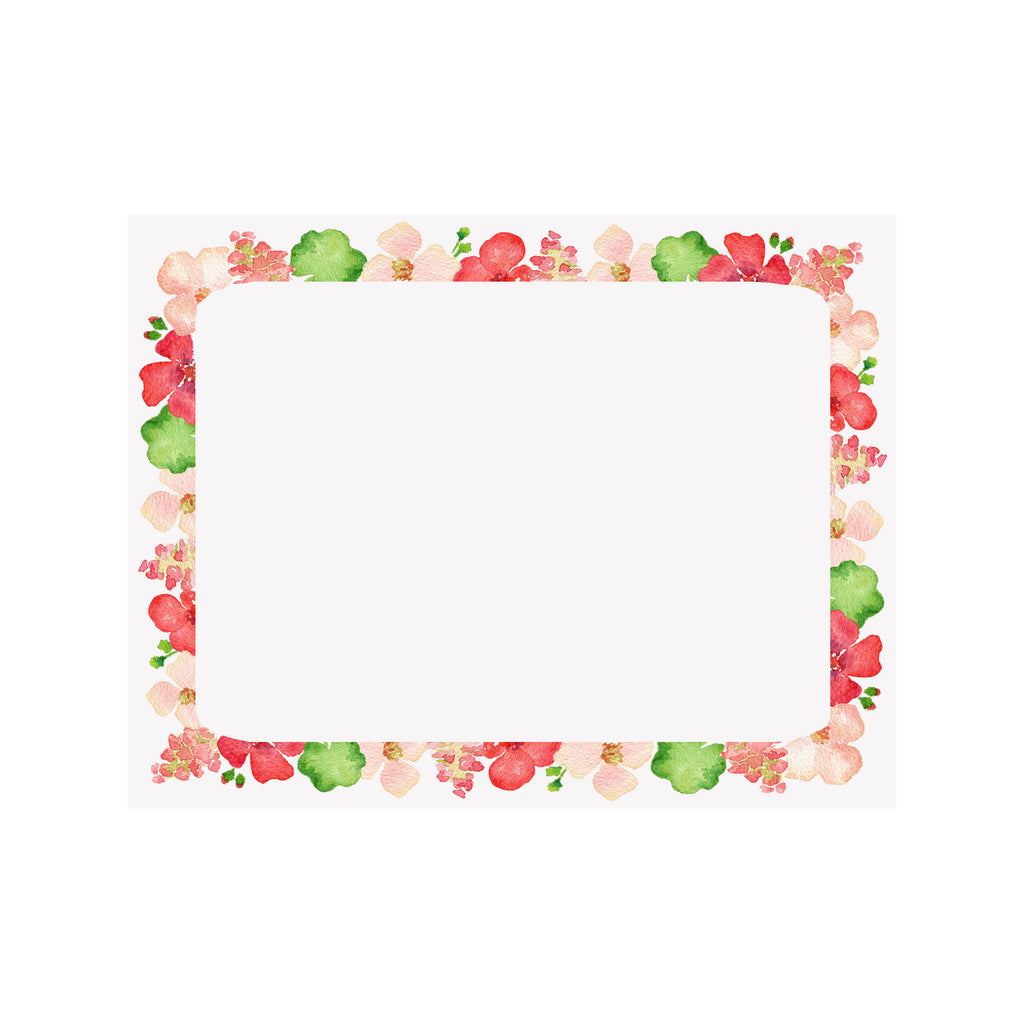 Geranium Border Note Card