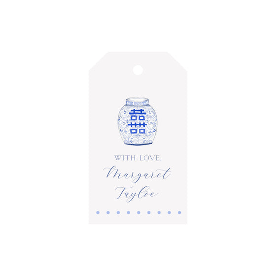 Ginger Jar Personalized Luggage Gift Tags